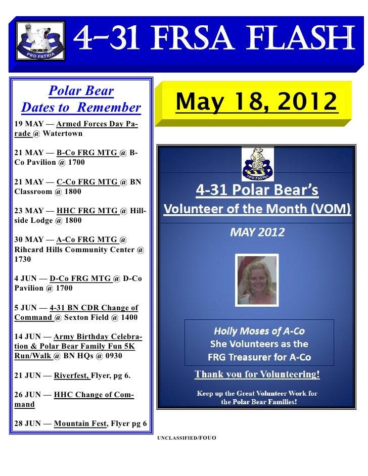 FRSA Flash 18 MAY 2012