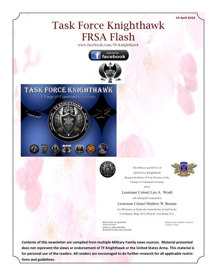 19 April FRSA Flash