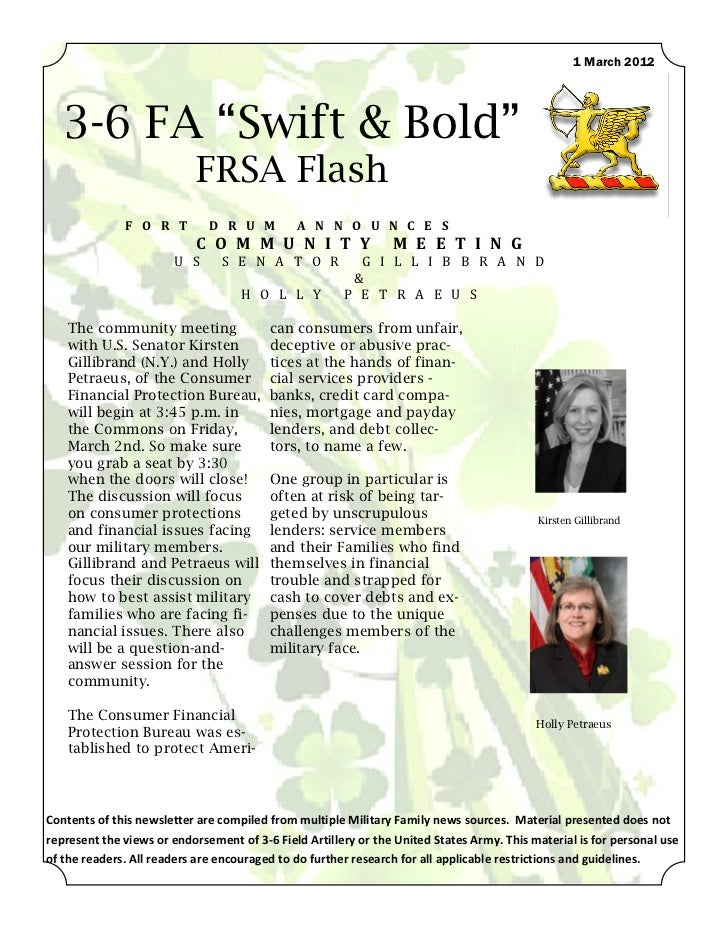 "1 March 2012   3-6 FA ""Swift & Bold""                           FRSA Flash              F O R T         D R U M         A N..."