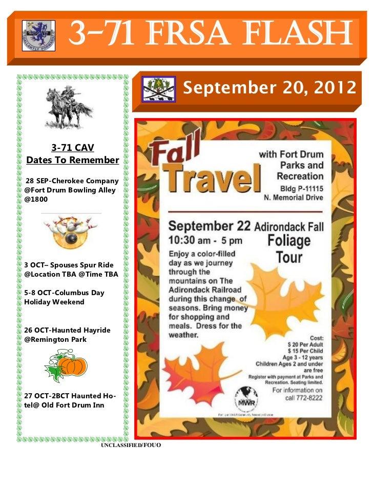 3-71 FRSA Flash                                       September 20, 2012     3-71 CAVDates To Remember28 SEP-Cherokee Comp...