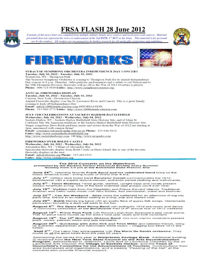 FRSA FLASH 28 June 2012Contents of this news letter are compiled from multiple military family news sources and local area...