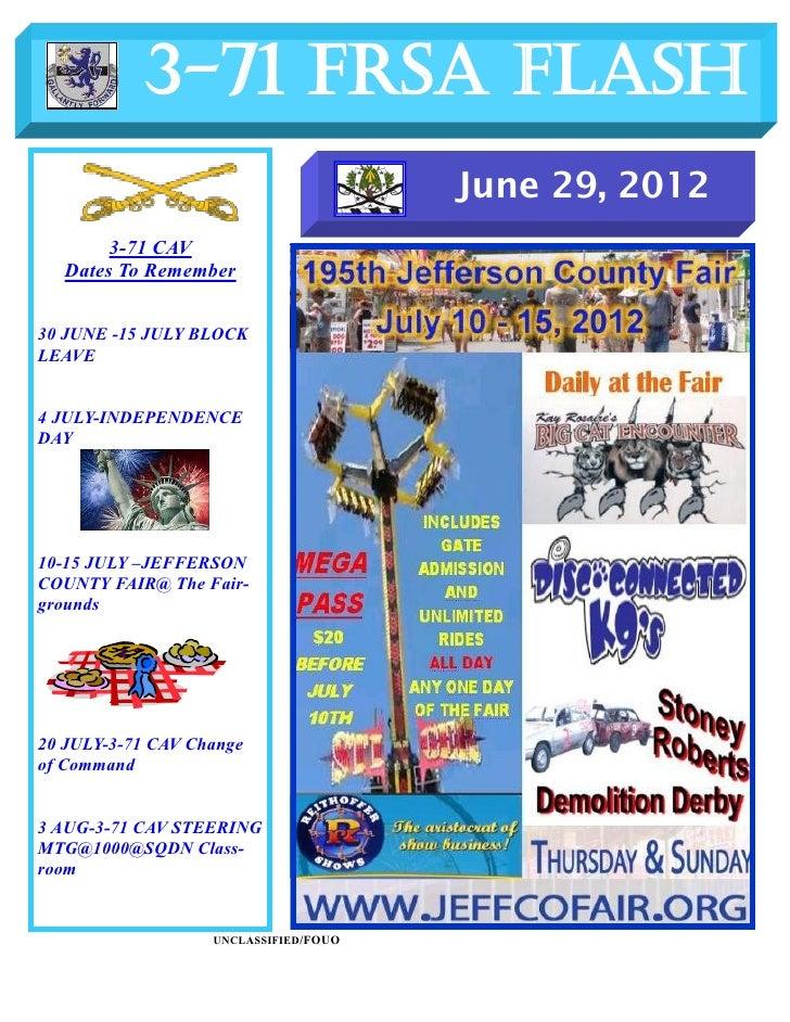 FRSA Flash  29 June  2012
