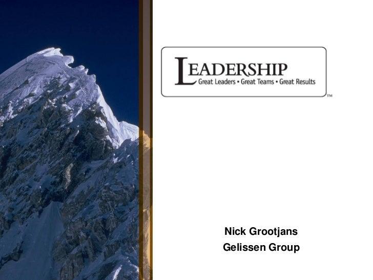 Nick GrootjansGelissen Group