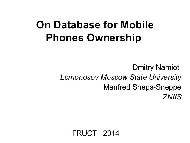 On Database for Mobile Phones Ownership