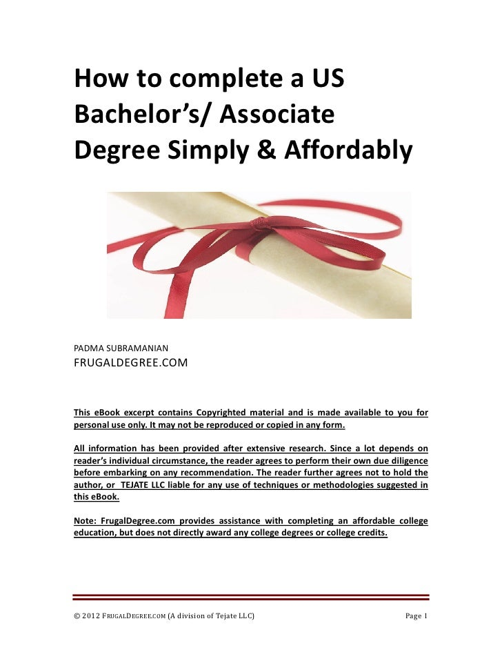 College Degree for $0