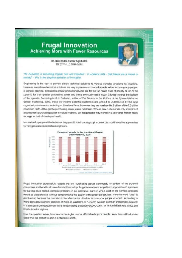Frugal innovation achieving more with fewer resources