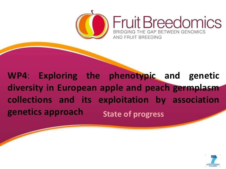 WP4: Exploring the phenotypic and geneticdiversity in European apple and peach germplasmcollections and its exploitation b...