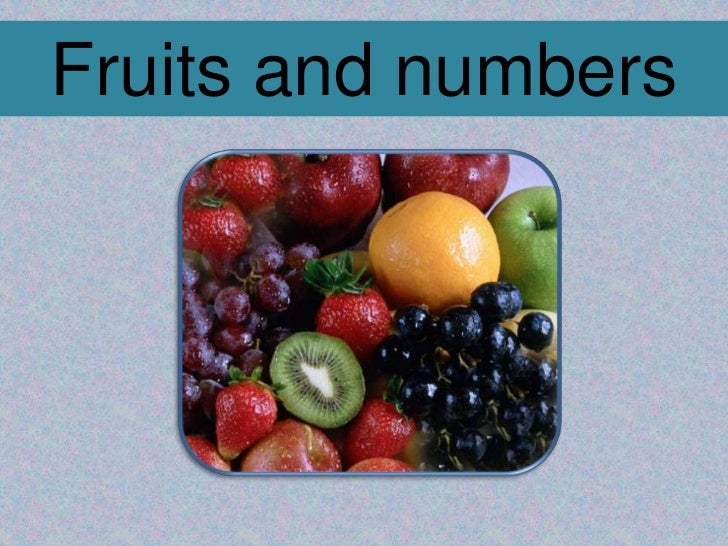 Fruits and numbers<br />