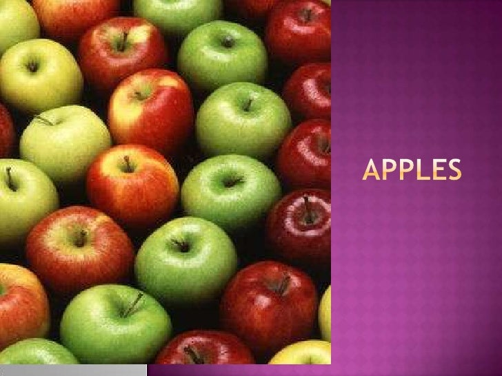 Fruits   apples