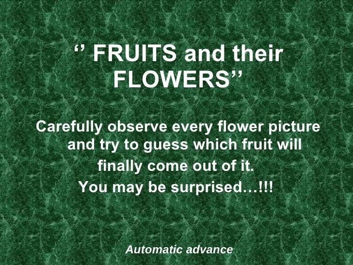 Fruitsandtheir Flowers 25 F Ed (K Tf)