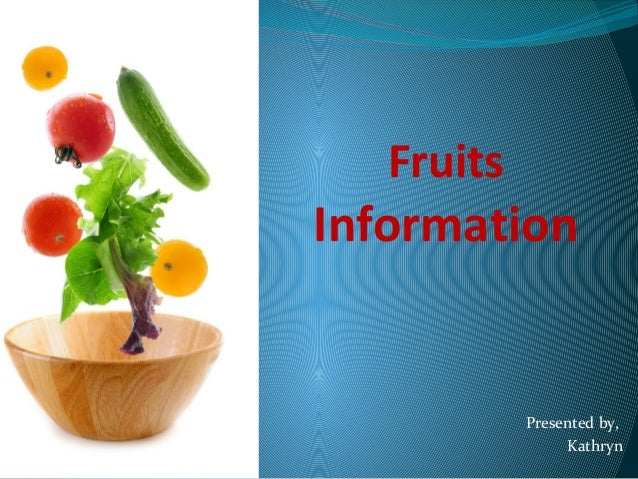 Fruits information