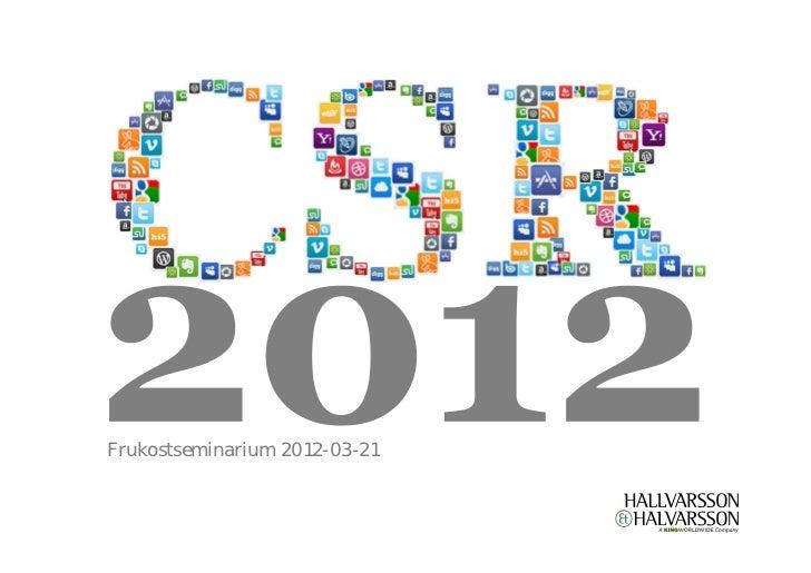 Frukostseminarium CSR digital 2012