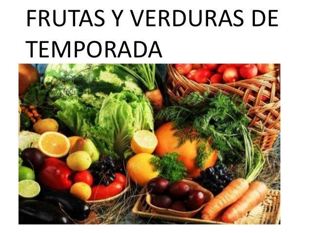 FRUTAS Y VERDURAS DETEMPORADA
