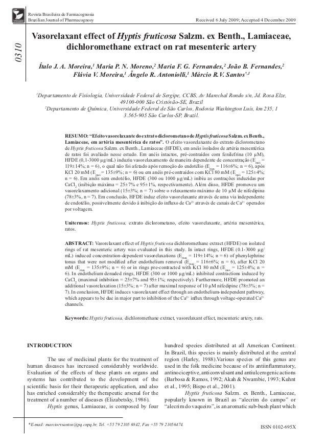 Revista Brasileira de Farmacognosia       Brazilian Journal of Pharmacognosy                                              ...