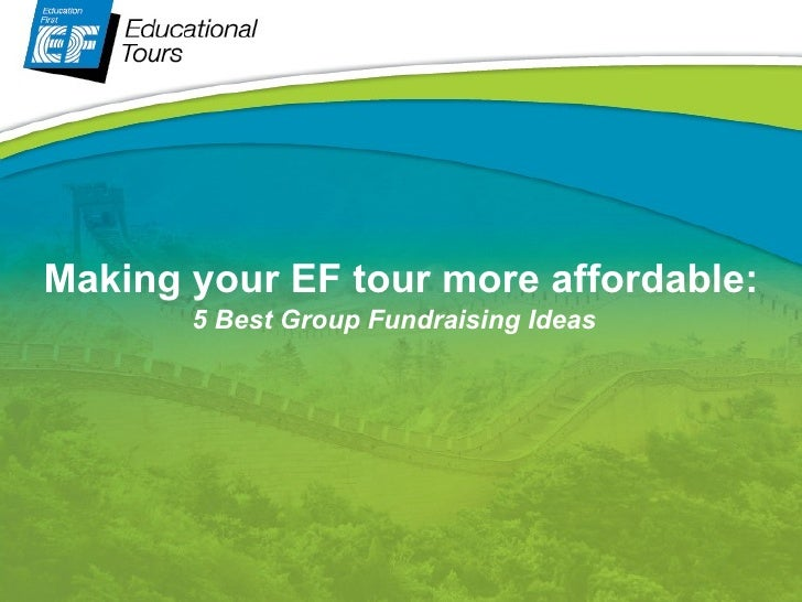 EF Fundraising Tips & Tricks - Fundraising as a Group