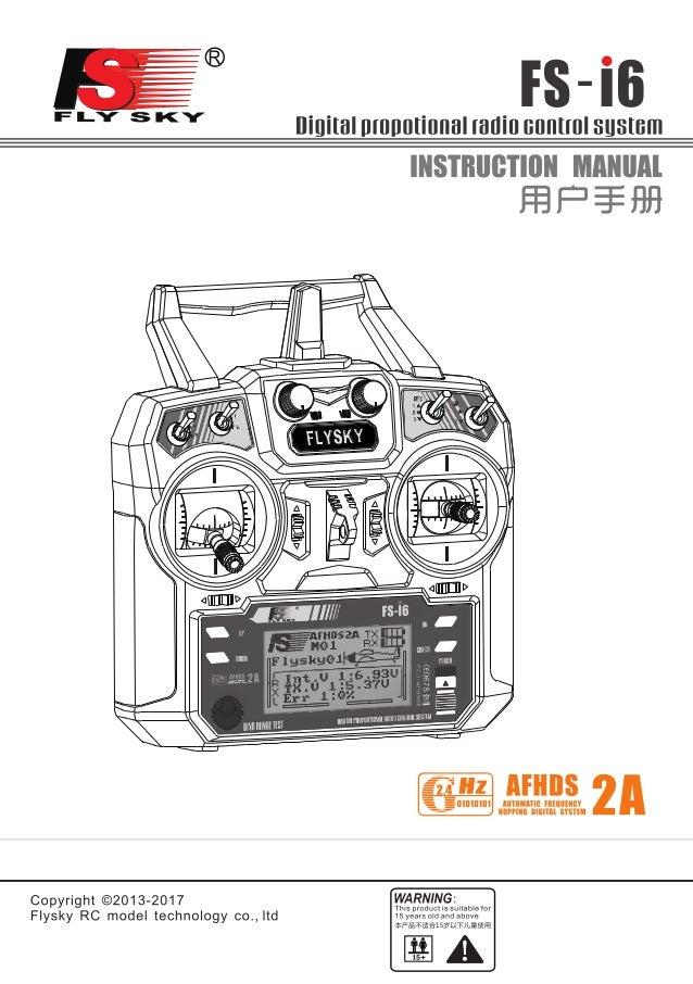 FlySky i6 radio control instruction manual