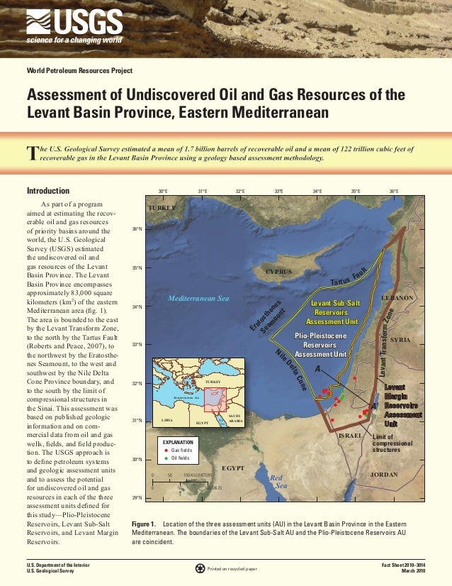 World Petroleum Resources ProjectAssessment of Undiscovered Oil and Gas Resources of theLevant Basin Province, Eastern Med...