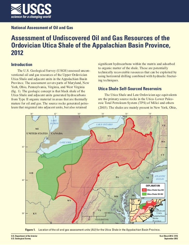 USGS Assessment for Size of Utica Shale