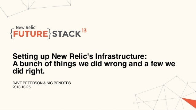 Setting Up New Relic's Infrastructure