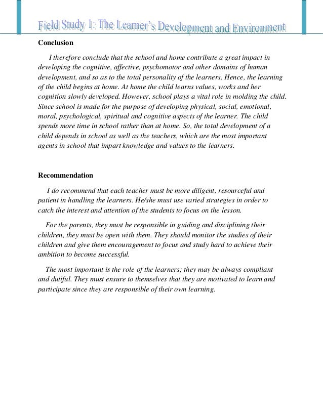 child observation essay conclusion