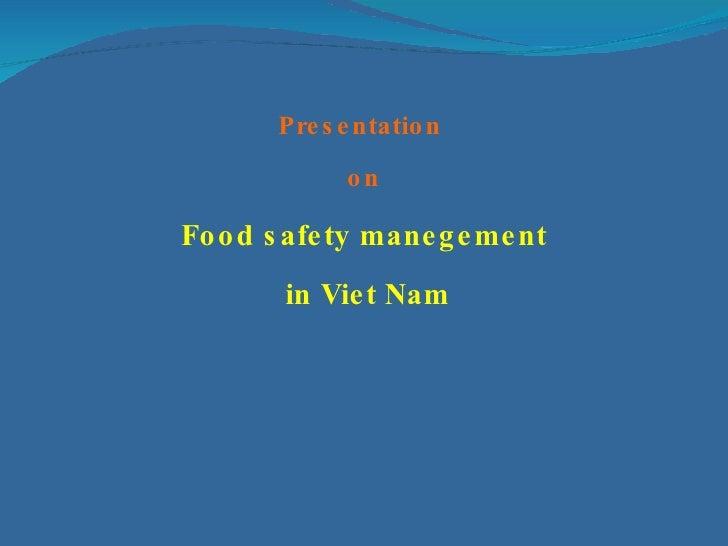 Food Safety- Viet Nam