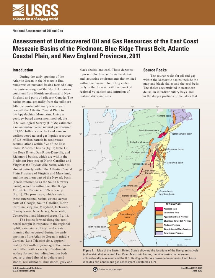 National Assessment of Oil and GasAssessment of Undiscovered Oil and Gas Resources of the East CoastMesozoic Basins of the...