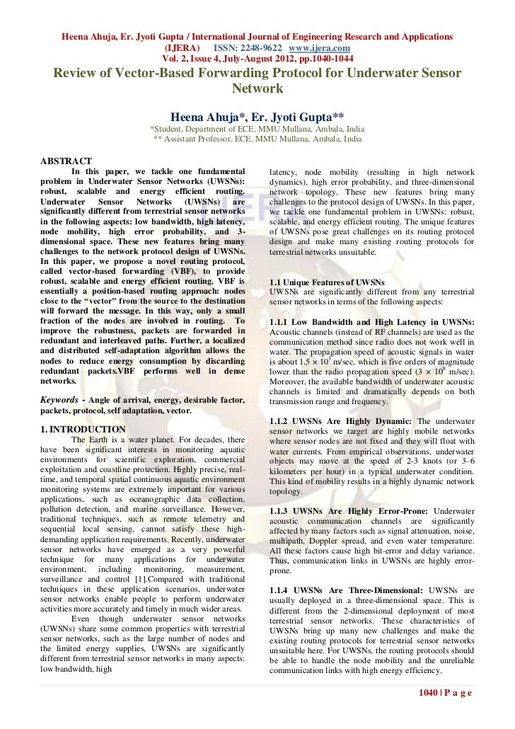 Heena Ahuja, Er. Jyoti Gupta / International Journal of Engineering Research and Applications                             ...