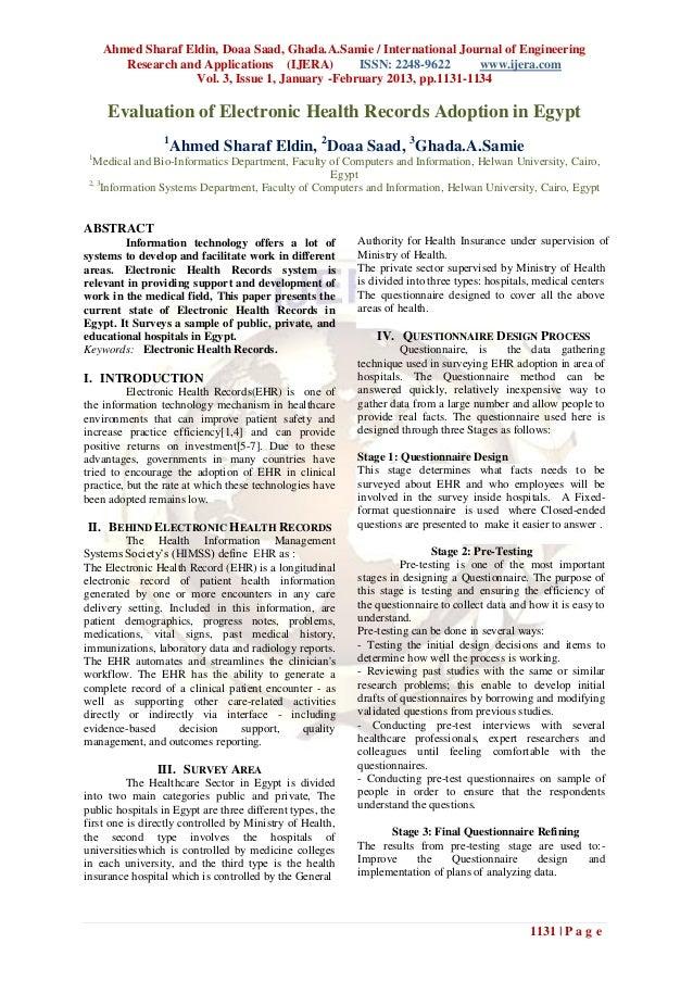 Ahmed Sharaf Eldin, Doaa Saad, Ghada.A.Samie / International Journal of Engineering        Research and Applications (IJER...
