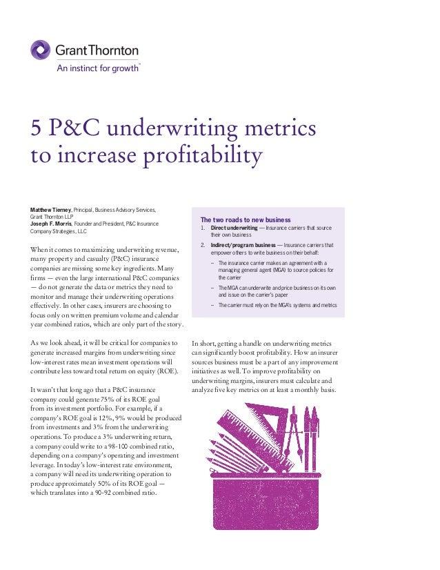 5 P&C underwriting metrics to increase profitability