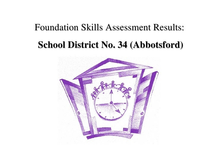 Foundation Skills Assessment Results:  School District No. 34 (Abbotsford)