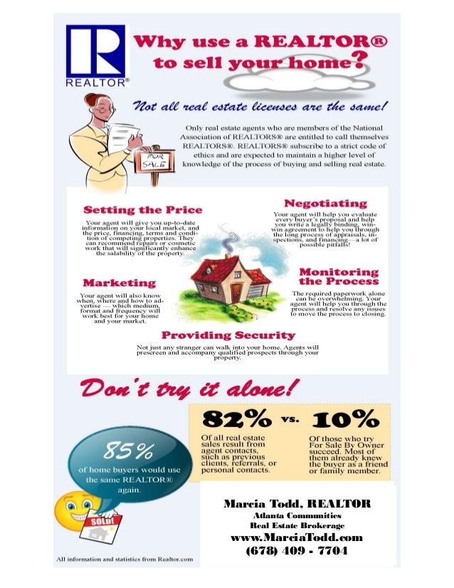 Marcia Todd, REALTOR Atlanta Communities Real Estate Brokerage www.MarciaTodd.com (678) 409 - 7704