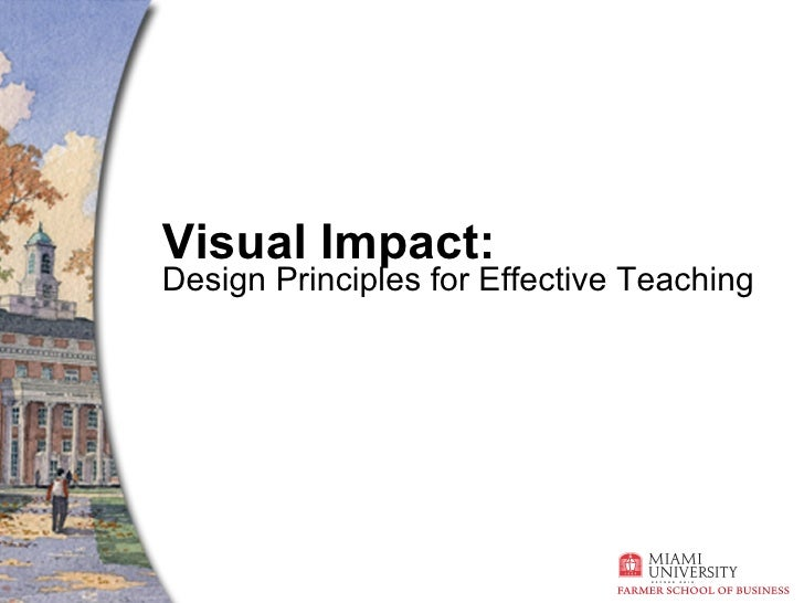 Visual Impact: Design Principles for Effective Teaching