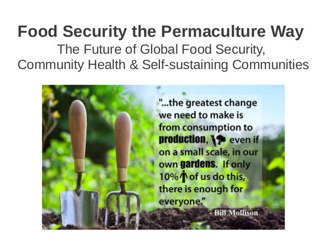 Food Security the Permaculture Way    The Future of Global Food Security,Community Health & Self-sustaining Communities