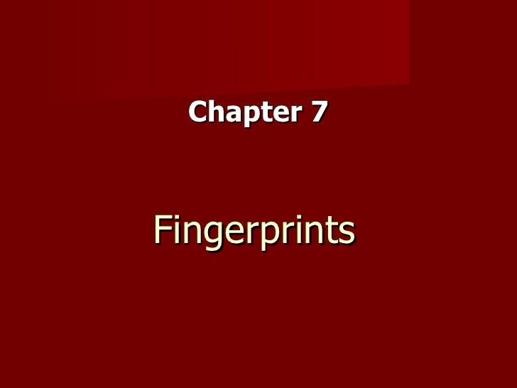 Fingerprints Chapter 7