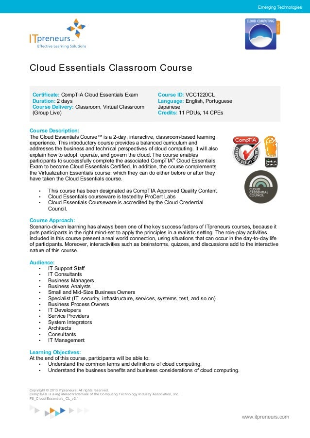 Cloud Essentials Course