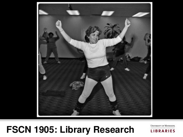 FSCN 1905: Library Research