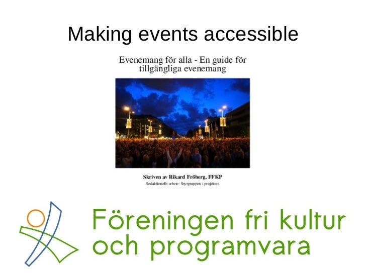 Making events accessible