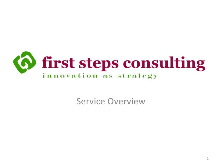 First Steps Consulting Overview