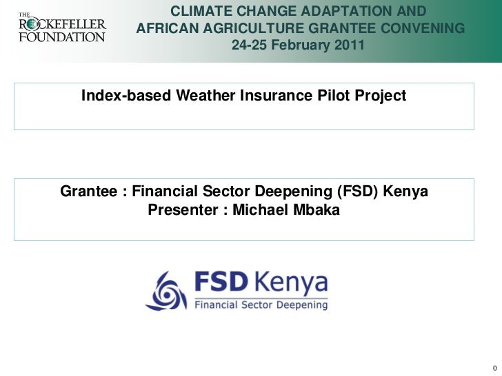 CLIMATE CHANGE ADAPTATION AND         AFRICAN AGRICULTURE GRANTEE CONVENING                    24-25 February 2011  Index-...
