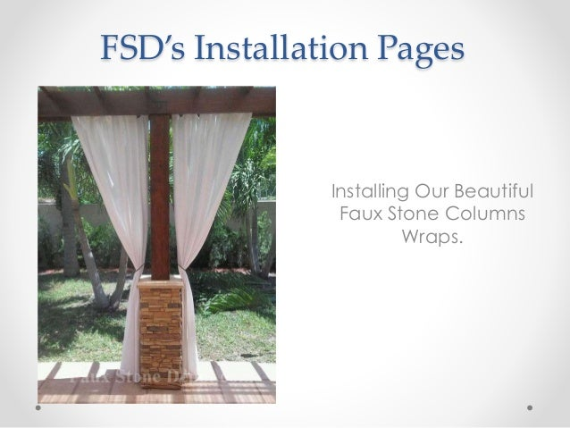 Stone Column Installation : How to install faux stone columns for porch pillars