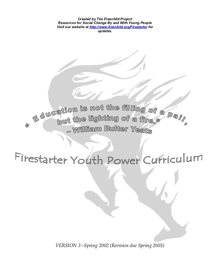 Firestarter Youth Power Curriculum