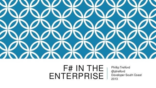 FSharp in the enterprise