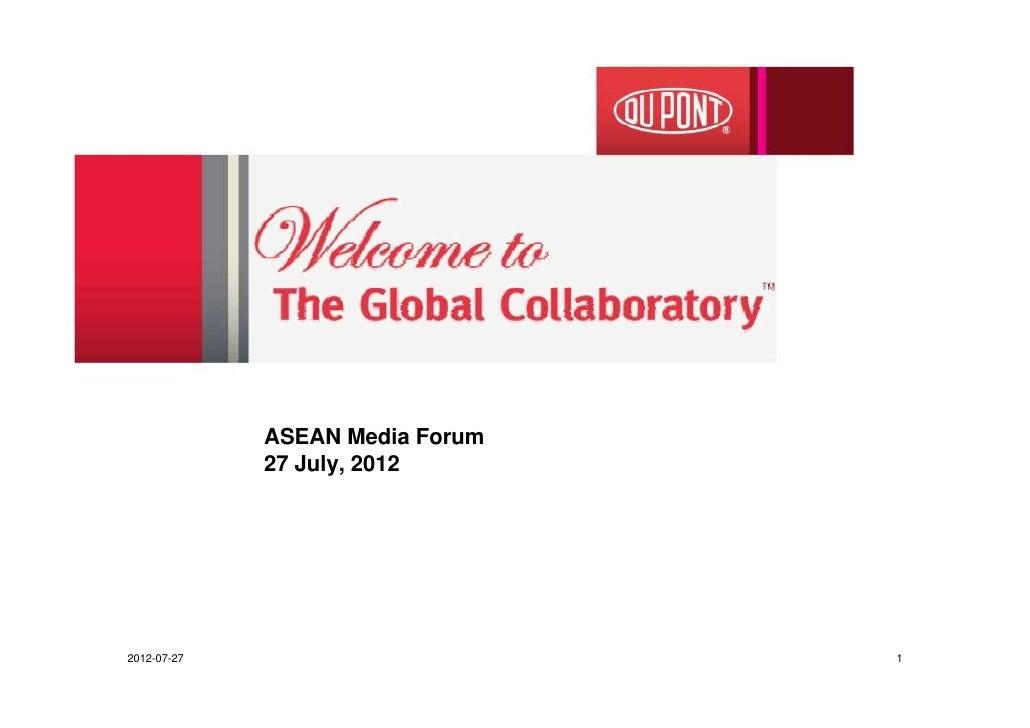 ASEAN Media Forum             27 July, 20122012-07-27                       1
