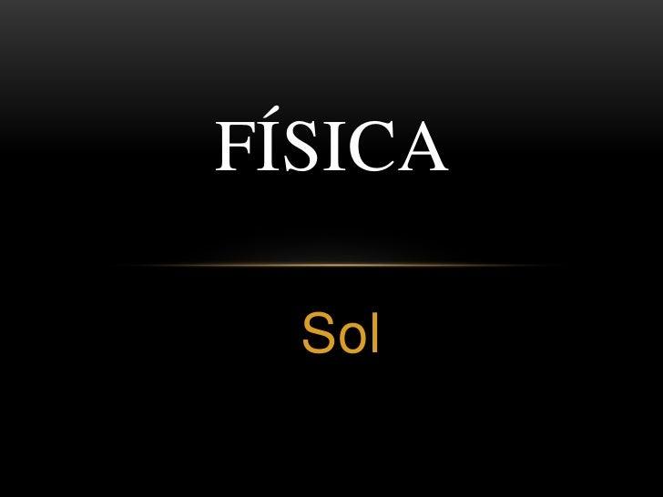 Física --  Sol 2011