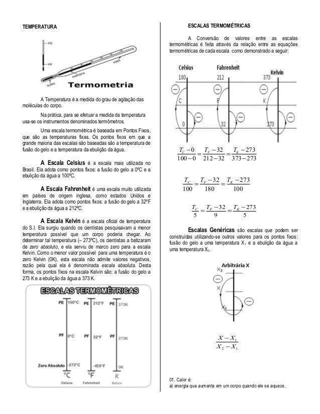 Física 2º ano   prof. pedro ivo - (introdução à termometria )