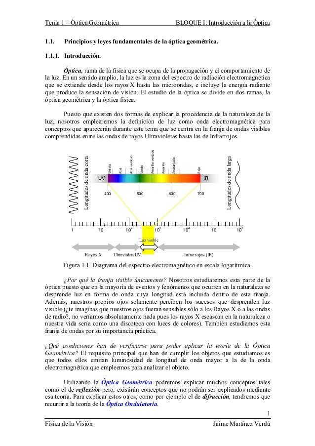Física de la visión (Teoría y Prácticas)