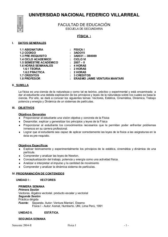 UNIVERSIDAD NACIONAL FEDERICO VILLARREAL                                       FACULTAD DE EDUCACIÓN                      ...