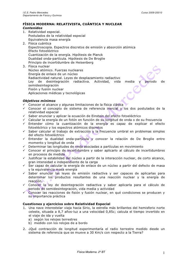 I.E.S. Pedro Mercedes                                                          Curso 2009-20010 Departamento de Física y Q...
