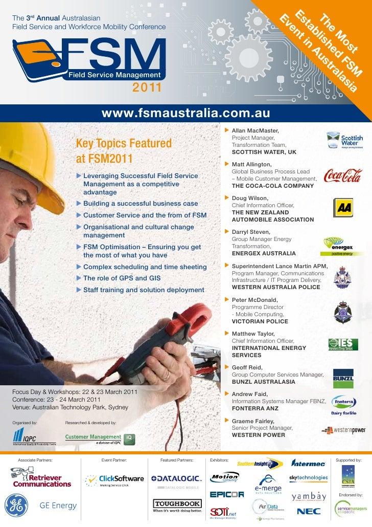 Field Service Management Australia 2011