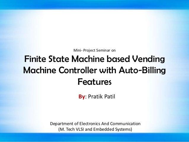 finite state machine vending machine